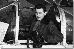 "Robert A. ""Bob"" Hoover sits in the cockpit of a Lockheed P-38 Lightning, just one of the many aircraft he mastered during World War II. (National Archives)"
